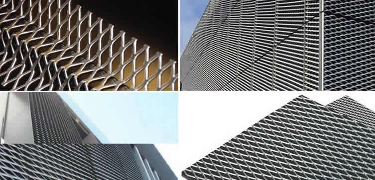 Steel, Aluminum or Copper Expanded Architectural Mesh for ...
