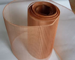 Flattened Copper Expanded Diamond Mesh